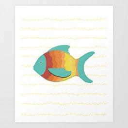 Turquoise Fish Art Print