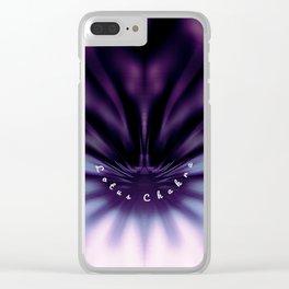 Purple Lotus Chakra Clear iPhone Case