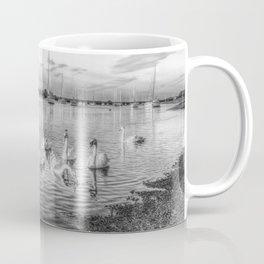 Sunset Swans Coffee Mug