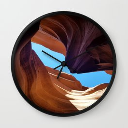 Antelope Canyon #3 Wall Clock