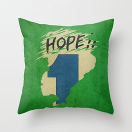 Hope!! (time machine ) Throw Pillow