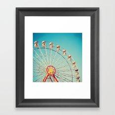 Ferris Wheel on Deep Blue sky Framed Art Print