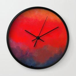 Red, Black and Yellow Mosaic Wall Clock