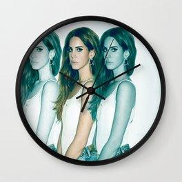 Lana - Blue Jeans, White Shirt Wall Clock