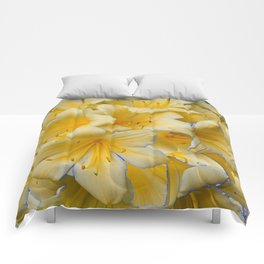 IVORY COLOR CLIVIA FLOWERS Comforters