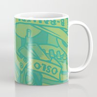oslo Mugs featuring Oslo B-ball Squadron by Fightstacy