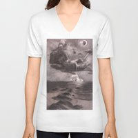 dick V-neck T-shirts featuring Moby Dick by Melisa Keyes