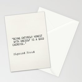 Being entirely honest with oneself is a good exercise. Sigmund Freud Stationery Cards