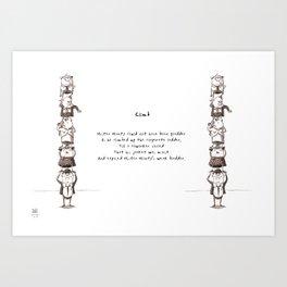 Social Ladder Limerick Art Print