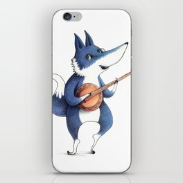 Playing-he-ho-oh wolf iPhone Skin