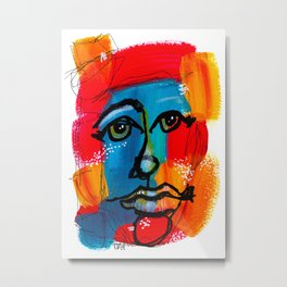 You Have to Face Yourself First Metal Print