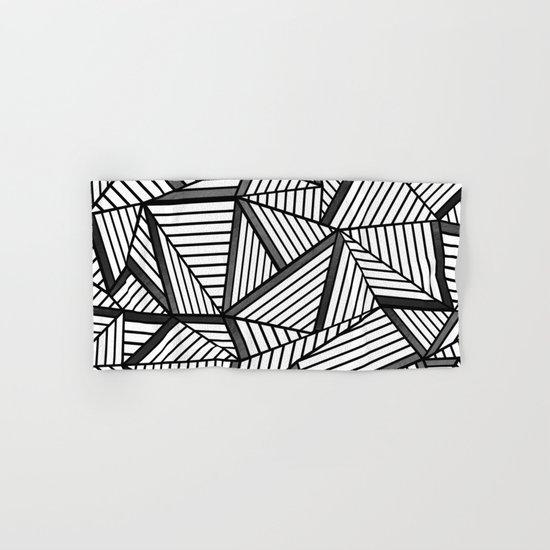 Ab Lines 2 Black and White Hand & Bath Towel
