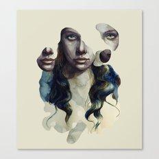 pieces face Canvas Print