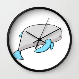 Scribble2Masterpiece - PLUMP WHALE from the Ocean! Wall Clock