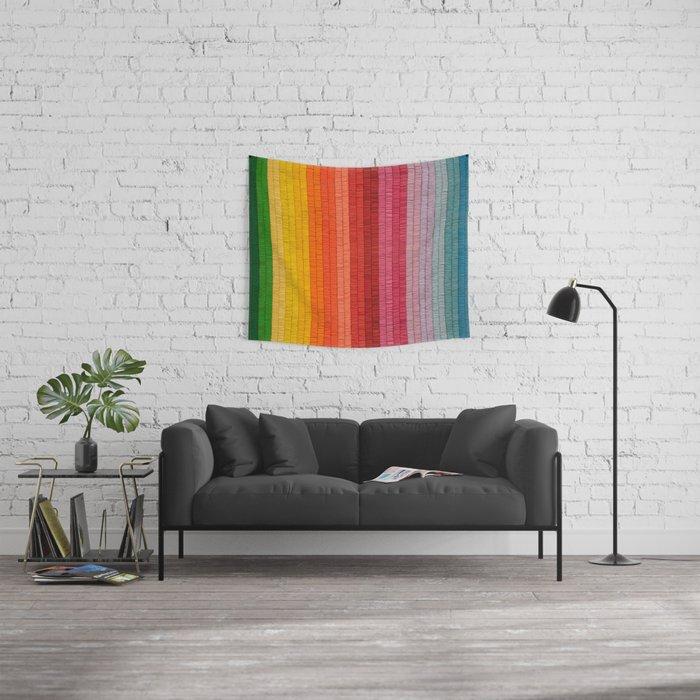 Band of Rainbows Wall Tapestry