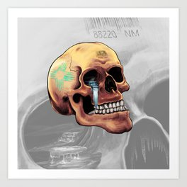 Zia Skull Art Print