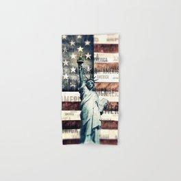 Vintage Patriotic American Liberty Hand & Bath Towel