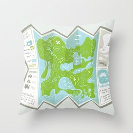 Totally Inaccurate Map of Gifford Pinchot State Park Throw Pillow