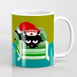 Naughty Cat Surprise Coffee Mug