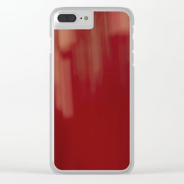 Red 1 Clear iPhone Case