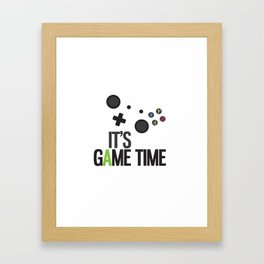 It's Game Time Framed Art Print