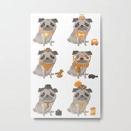 Pugs Abound Metal Print