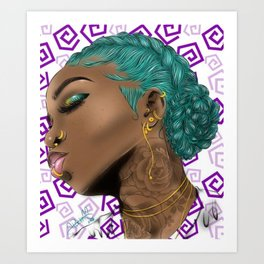New Bae (purple) Art Print