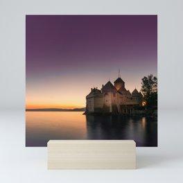 Sunset At Chillon Mini Art Print