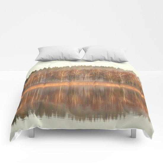 Foggy Reflection Comforters