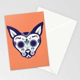 Day of the Dead Cat Stationery Cards