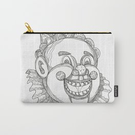 Vintage Circus Clown Head Doodle Carry-All Pouch