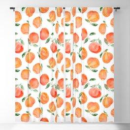Watercolor oranges Blackout Curtain