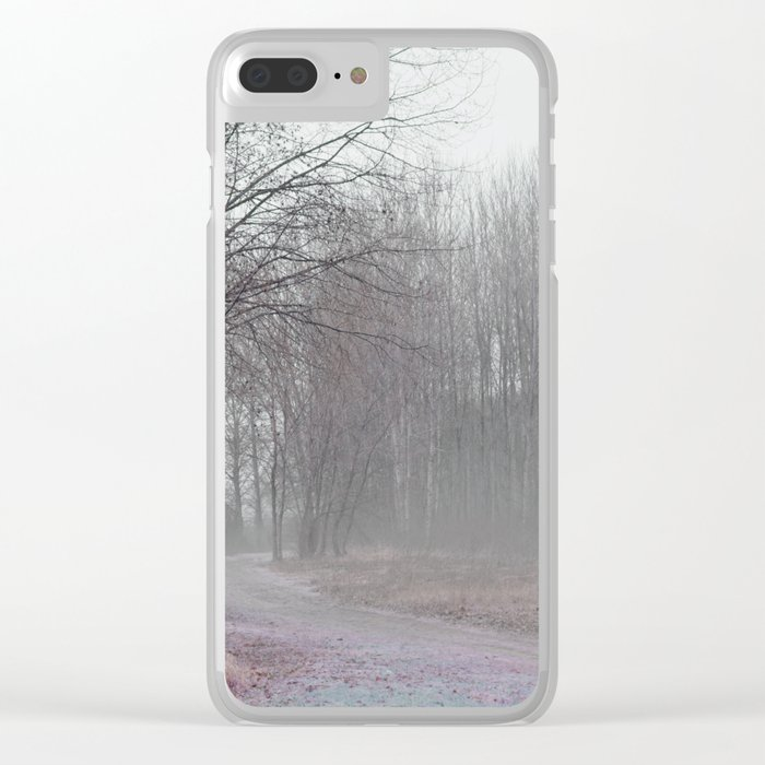 Walk in the Foggy Morning Clear iPhone Case