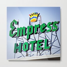 Empress Hotel Metal Print