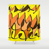 charlie brown Shower Curtains featuring CHARLIE BROWN by ..........