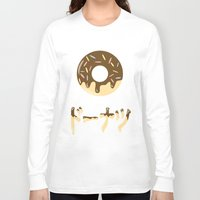 donut Long Sleeve T-shirts featuring DONUT. by Dani Does Art