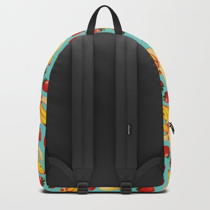 Strawberry Banana Pattern Backpack