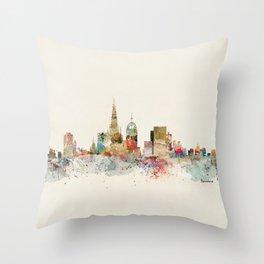 barcelona city skyline Throw Pillow