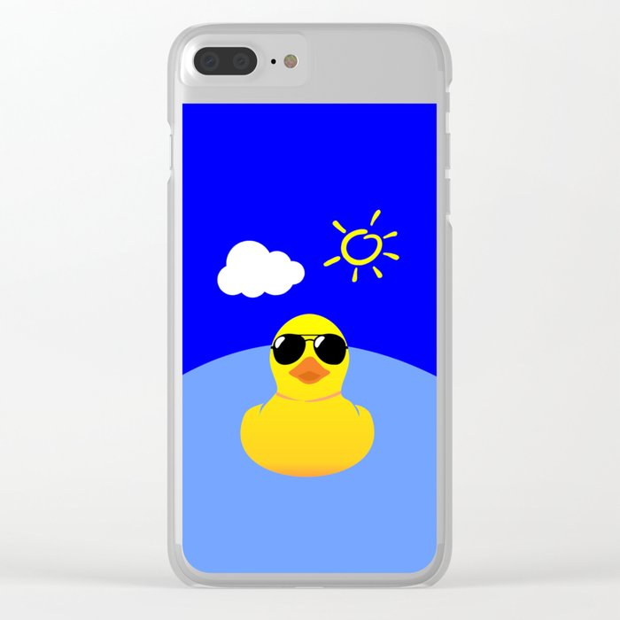 Cool Rubber Duck Yellow Clear iPhone Case