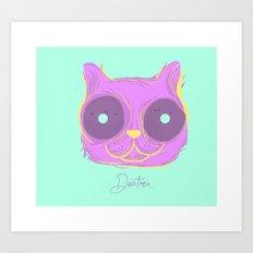 Cat thoughts Art Print