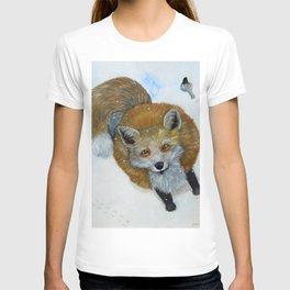 Fox and Chickadee T-shirt