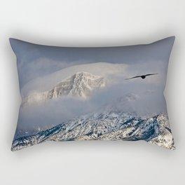 Raven Soaring through the Mountains Rectangular Pillow