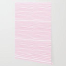 Pink Stripes Horizontal Wallpaper