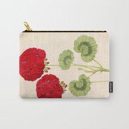Double Zonal Pelargonium Vesta Vintage Flower Carry-All Pouch