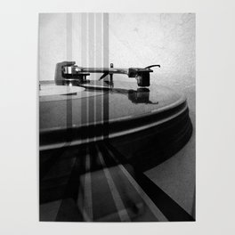 Turntable Retro Poster