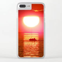Sailboat Holds the Sun Clear iPhone Case