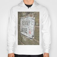 liverpool Hoodies featuring Liverpool Street Sign by Jonah Anderson