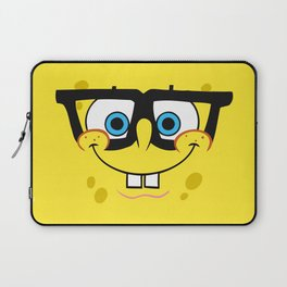 Spongebob Nerd Face Laptop Sleeve