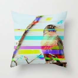 Robin Rewind Throw Pillow