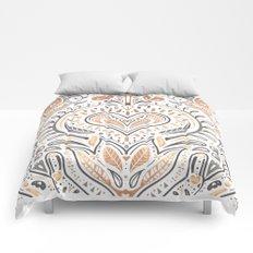 Rose Gold Folklore Pattern Comforters